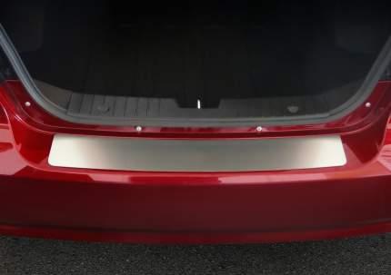 Накладка на задний бампер RIVAL для Ravon Nexia R3 2016-н.в., нержавеющая сталь, NB.1302.1