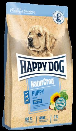 Сухой корм для щенков Happy Dog NaturCroq Puppy, все породы, птица, овощи, 1кг