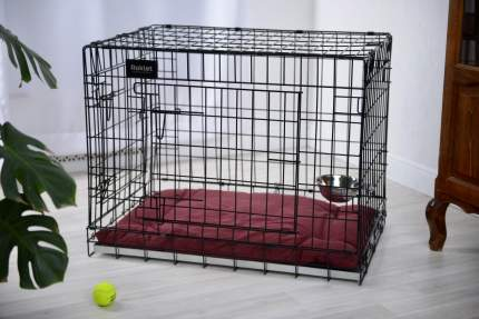 Клетка для собак, щенков ROKLET Prime, для средних пород, 2 двери, черная, 90х60х70 см
