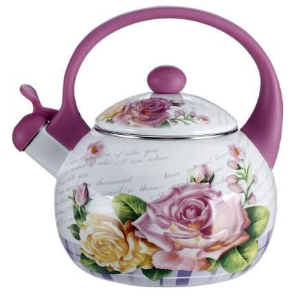 "Чайник Metalloni ""Чайная роза"" 2,5 литра со свистком"