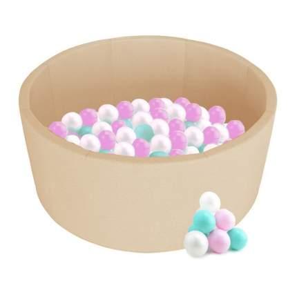Детский сухой бассейн Kampfer Pretty Bubble Бежевый + 100 шаров