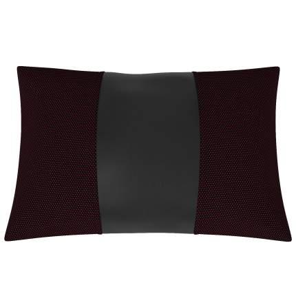 Подушка автомобильная AVTOLIDER1 Экокожа-жаккард чёрный-чёрный