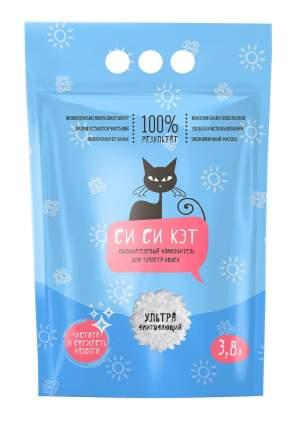 Впитывающий наполнитель для кошек Си Си Кэт силикагелевый, 1.6 кг, 3.8 л