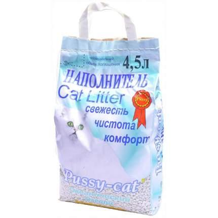 Впитывающий наполнитель для кошек Pussy-Cat цеолитовый, 2.5 кг, 4.5 л