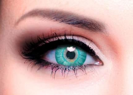Цветные контактные линзы Офтальмикс Butterfly One Day 2 линзы R 8,6 -3,00 Aqua