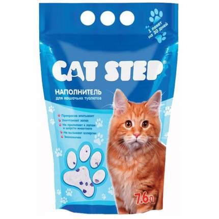 Впитывающий наполнитель для кошек Cat Step силикагелевый, 3.62 кг, 7.6 л