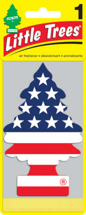 CAR FRESHNER ароматизатор Ёлочка Американский флаг (Vanilla Pride)