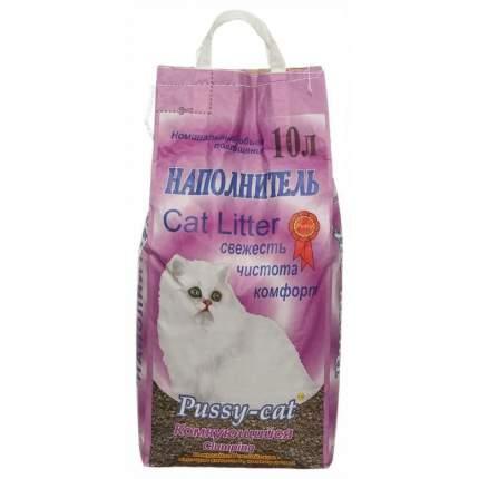 Комкующийся наполнитель для кошек Pussy-Cat бентонитовый, 7 кг, 10 л