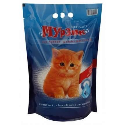Впитывающий наполнитель для кошек Мурзик цеолитовый, 2.45 кг, 4 л