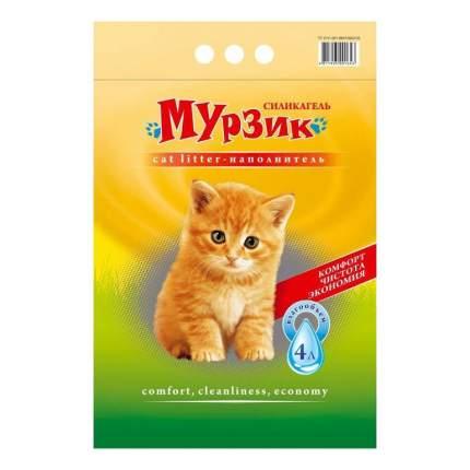 Впитывающий наполнитель для кошек Мурзик Стандарт силикагелевый, 2.45 кг, 4 л