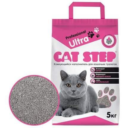 Комкующийся наполнитель для кошек Cat Step Professional Ultra бентонитовый, 5кг
