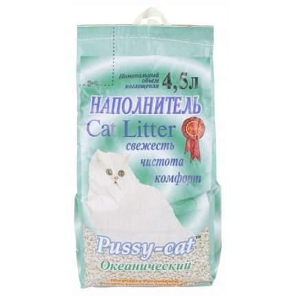 Впитывающий наполнитель для кошек Pussy-Cat цеолитовый, океанический, 2.5 кг, 4.5 л