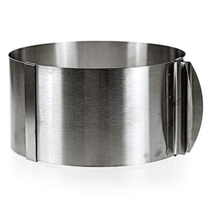 Форма кондитерская из нержавеющей стали диаметр 16-30 см раздвижная