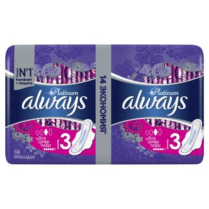 Прокладки Always Platinum Ultra Super Plus 14 шт