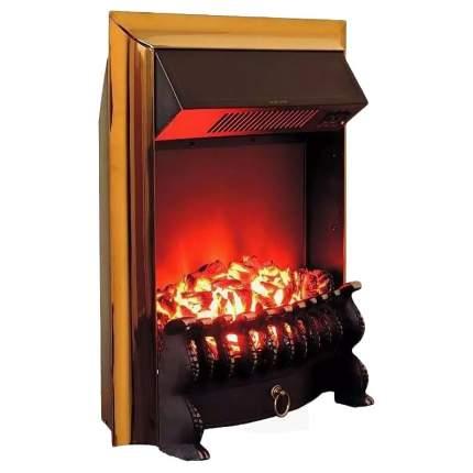 Электрокамин Royal Flame Fobos FX Brass, черный/золотистый