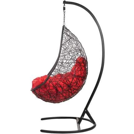 Подвесное кресло Bigarden Easy черное со стойкой красная подушка