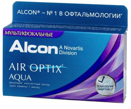 Контактные линзы AirOptix HydraGlyde for Multifocal 3 шт. PWR +3,75, R 8.6, Аддидация=M