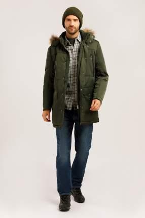 Зимняя куртка мужская Finn Flare W19-22012 темно-зеленая M