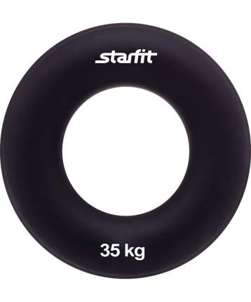 "Starfit Эспандер кистевой ES-404 ""Кольцо"", диаметр 8,8 см, 35 кг, чёрный"
