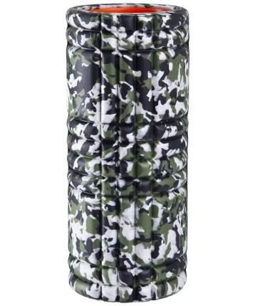 Starfit Ролик массажный FA-508, 33x14 cм, зеленый камуфляж/оранжевый