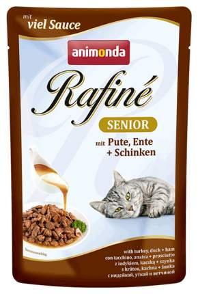 Влажный корм для кошек Animonda Rafine Soupe Senior, индейка, утка, ветчина, 12шт, 100г