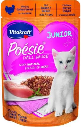 Влажный корм для кошек Vitakraft Poesie Junior Delisauce, индейка, 23шт, 85г