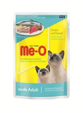 Влажный корм для кошек Me-O Дэлит, тунец, курица, 12шт, 70г
