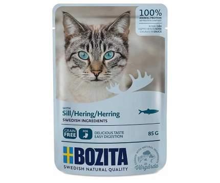 Влажный корм для кошек BOZITA кусочки в соусе, рыба, 12шт, 85г
