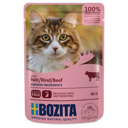 Влажный корм для кошек BOZITA кусочки в соусе, говядина, 12шт, 85г