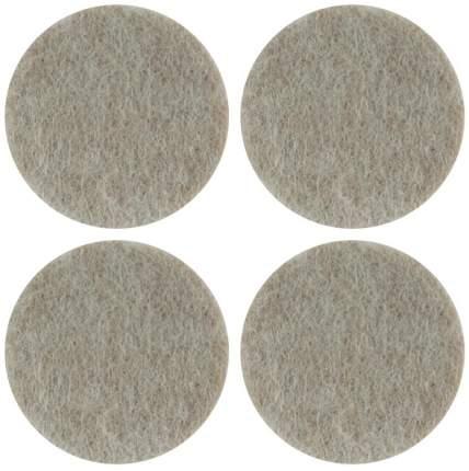 Подкладки для мебели самоклеющиеся круглые 34 мм, 4 шт., войлок FIT 67511