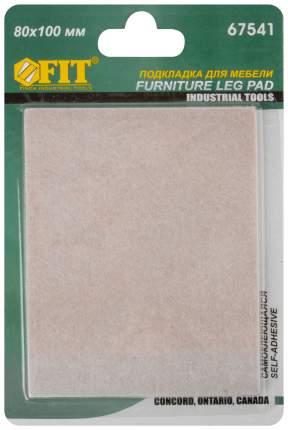 Подкладка для мебели самоклеющаяся 80 х 100 мм, 1 шт., FIT 67541