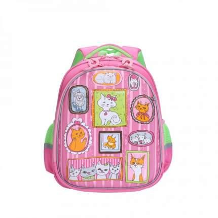 Ранец детский Grizzly RAz-086-8 школьный розовый