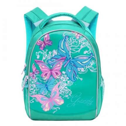 Рюкзак детский Grizzly RG-868-4 школьный зеленый