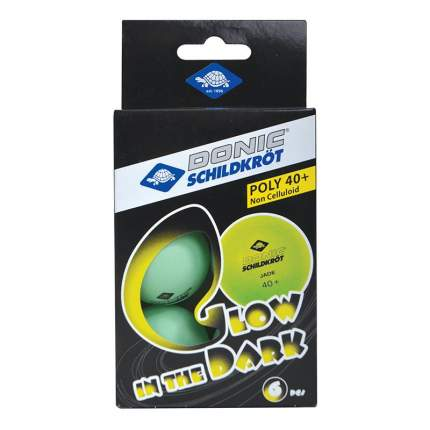 Мячи для настольного тенниса Donic Glow In The Dark, зеленый, 6 шт.
