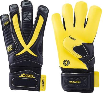 Вратарские перчатки Jogel One Wizard SL3 Hybrid, yellow/black, 8