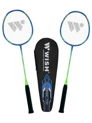Wish Набор для бадминтона Fusiontec 770K, 2 ракетки, синий/зеленый