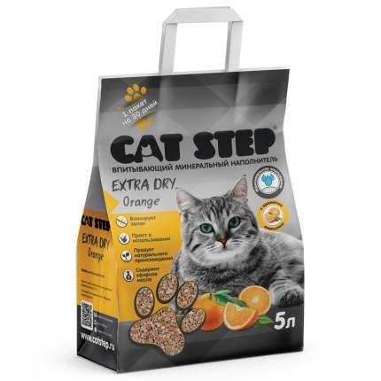 Впитывающий наполнитель для кошек Cat Step глиняный, апельсин, 4.5 кг, 5 л