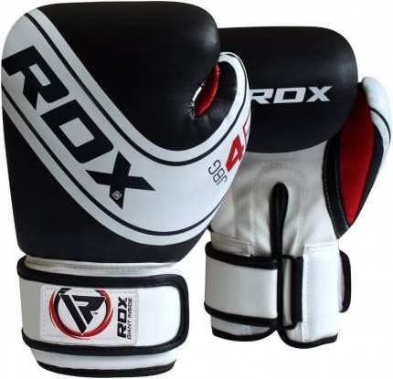 Боксерские перчатки RDX JBG-4B белые/черные 6 унций