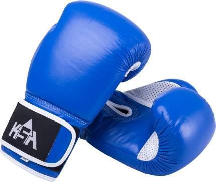 Боксерские перчатки KSA Wolf белые/синие 8 унций