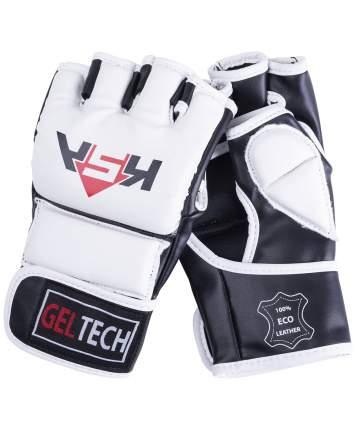 KSA Перчатки для MMA Lion Gel White, к/з, M