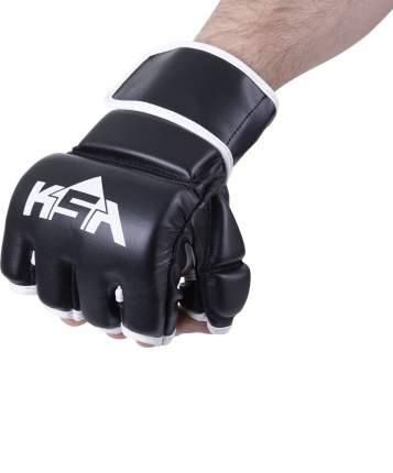 KSA Перчатки для MMA Wasp Black, к/з, L