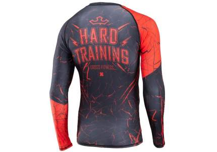 Рашгард Rusco Sport Cross Fitness, black/red, S INT