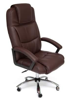 Кресло руководителя BERGAMO CHROME Иск.кожа коричневая PU 36-36