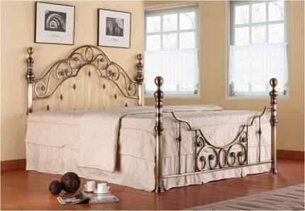 Двуспальная кровать Victoria + основание Античная медь, Спальное место 1400 X 2000 мм