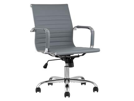 Офисное креслоофисноеTopChairsCityS Серый, экокожа