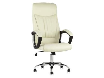 Кресло руководителяTopChairsTower Бежевый, экокожа
