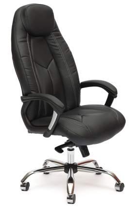 Кресло руководителя BOSS люкс Иск.кожа черная перфор. (36-6/36-6/06)