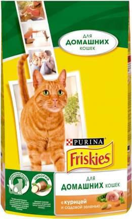 Сухой корм для кошек Friskies, для домашних, с курицей и полезными овощами, 1,5кг