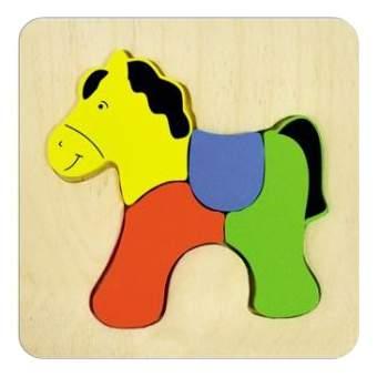 Деревянная игрушка для малышей Alatoys Лошадка