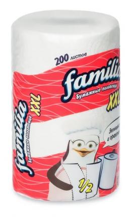 Полотенца Familia бумажные XXL двухслойные 1 штука
